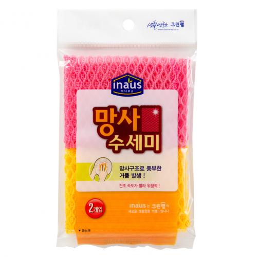 Мочалка-сетка для мытья посуды (средней жесткости) (30 см*28 см) Inaus Bubble Loofah