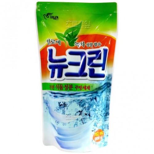 Жидкость для мытья посуды с экстрактом алоэ и зеленым чаем New Clean Aloe & Green tea