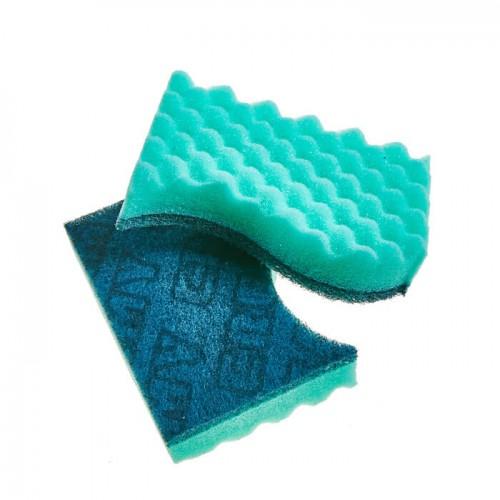 Скруббер-мочалка для мытья посуды ( 12 х 8 х 3) DOUBLE MULTI SCRUBBER