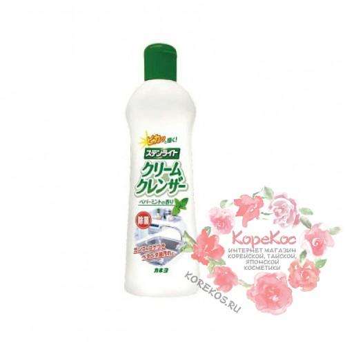 Крем чистящий для кухни, ванной и туалета «Kaneyo - Экстракт бамбука» (мята)