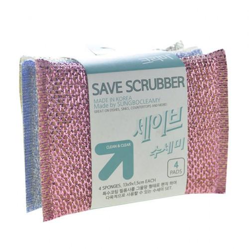 Скруббер для мытья посуды ( 13 х 9 х 1,5 ) SAVE SCRUBBER