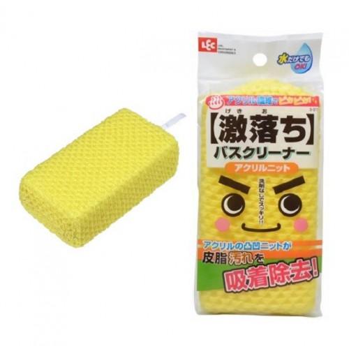 Мягкая губка для чистки ванны без моющих средств (в трикотажной акриловой сетке)