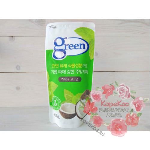 """Средство для мытья посуды """"Green"""" «Травы и кокос»"""