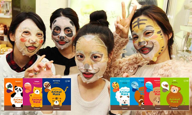 Тканевые маски для лица - эффективно и креативно!