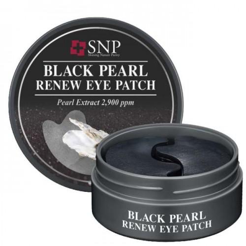 Патчи для глаз с черным жемчугом SNP BLACK PEARL RENEW EYE PATCH (RENEWAL)