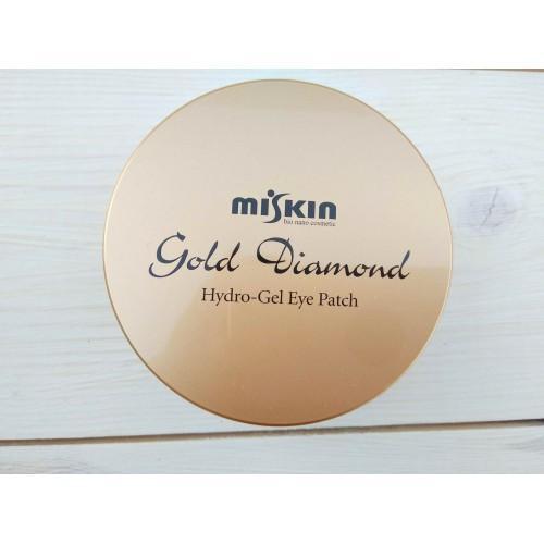 Гидрогелевые патчи с коллоидным золотом MISKIN GOLD DIAMOND HYDRO GEL EYE PATCH