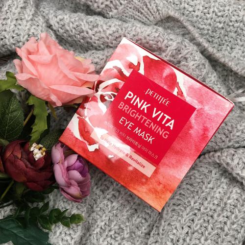 Осветляющие тканевые патчи для кожи под глазами PETITFEE Pink Vita Brightening Eye Mask