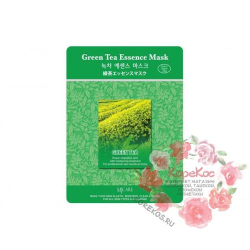 Маска тканевая зеленый чай Green Tea Essence Mask