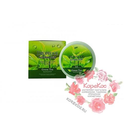 Крем для лица и тела с экстрактом зеленого чая DEOPROCE NATURAL SKIN GREENTEA NOURISHING CREAM