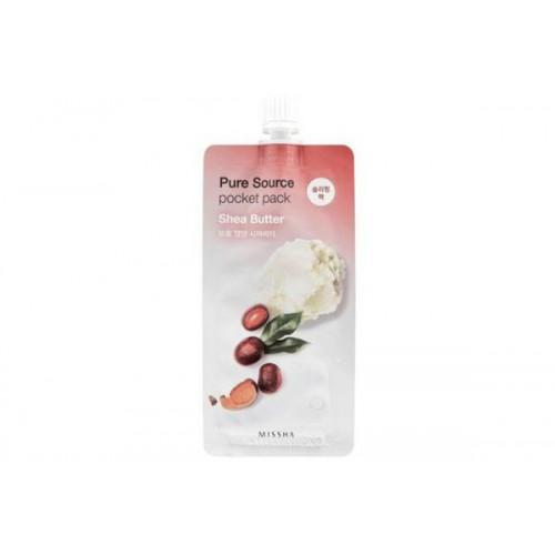 Питательная ночная маска с маслом Ши Missha Pure Source Pocket Pack (Shea Butter)