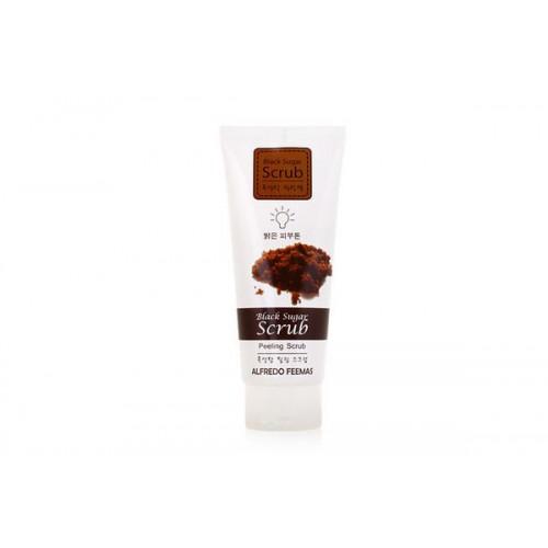 Пилинг-скраб с черным сахаром для чувствительной кожи Lunaris Alfredo Feemas Black Sugar Peeling Scrub