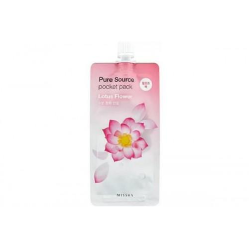 Освежающая увлажняющая пилинг-маска с экстрактом лотоса Missha Pure Source Pocket Pack (Lotus)