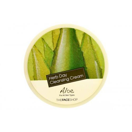 Очищающий крем для лица с алоэ Herb day cleansing cream