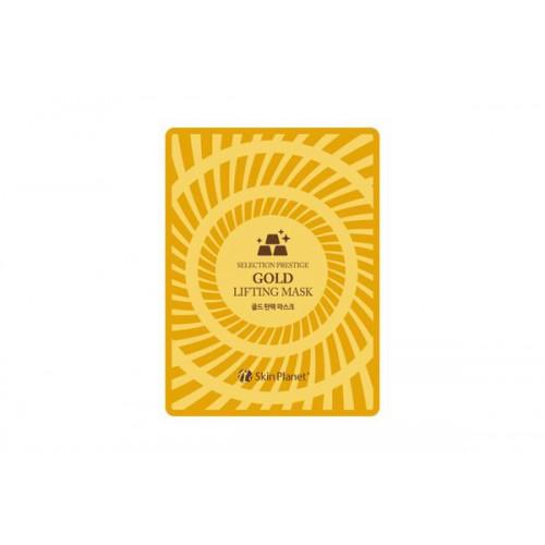 Маска для лица тканевая с золотом лифтинг эффект Skin Planet GOLD LIFTING MASK