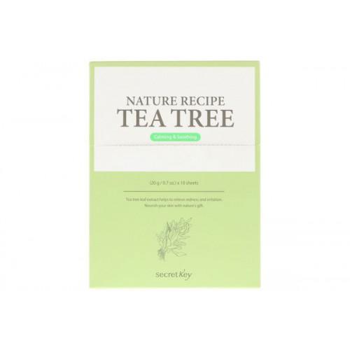 Тканевая маска чайное дерево Nature Recipe Mask Pack Tea Tree