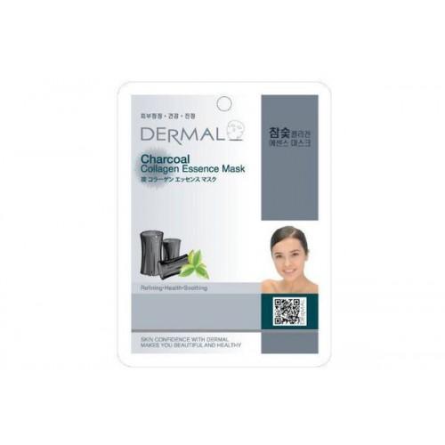 Маска для лица тканевая УГОЛЬ и КОЛЛАГЕН Charcoal Collagen Essence Mask