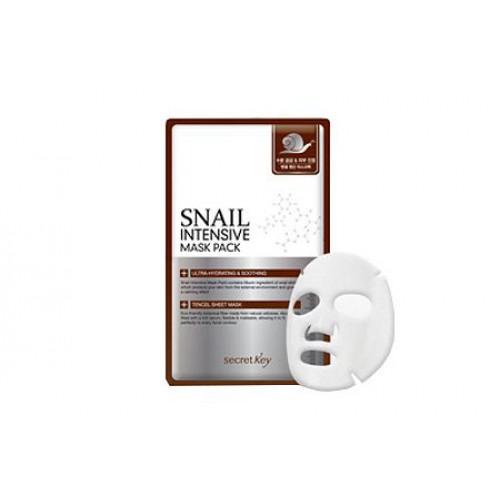 Маска для лица тканевая с муцином улитки Snail Intensive Mask Pack 1P(sheet)