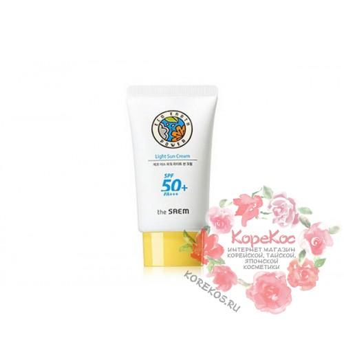Крем легкий солнцезащитный SPF50 Eco Earth Power Light Sun Cream SPF50