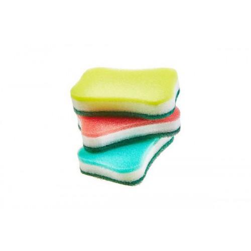 Скруббер-мочалка для мытья посуды (11,5 х 7,5 х 2,5) TRIPLE MULTI SCRUBBER