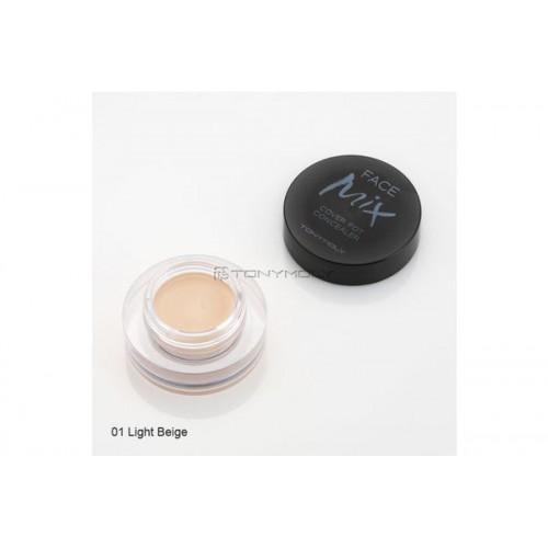 Консилер шелковый 01 светлый беж Facemix Cover Pot Concealer