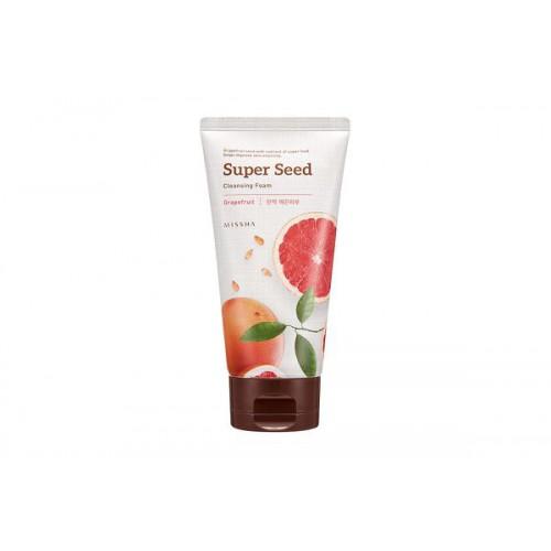 Пенка для умывания с экстрактом семян грейпфрута Missha Super Seed Grapefruit Cleansing Foam