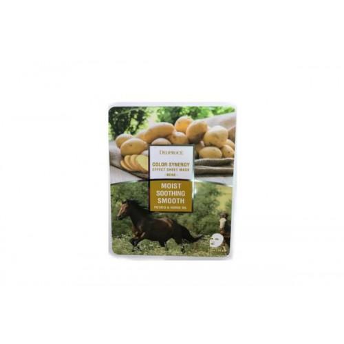 Маска тканевая с конским жиром и экстрактом картофеля COLOR SYNERGY EFFECT SHEET MASK BEIGE