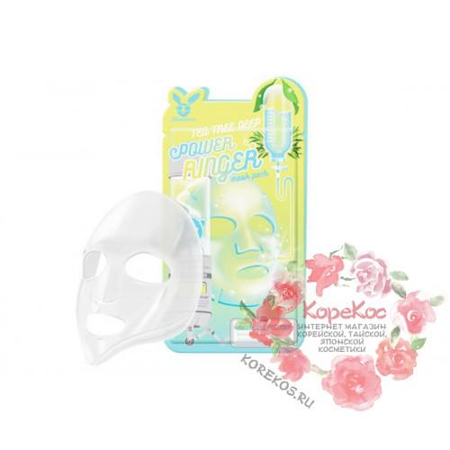 Маска для лица тканевая TEA TREE DEEP POWER RING MASK PACK