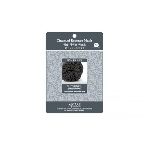 Маска тканевая древесный уголь Charcoal Essence Mask
