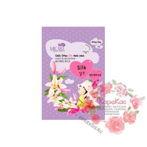 Маска тканевая с аминокислотами шелка MJ Care Daily Dewy Silk mask pack