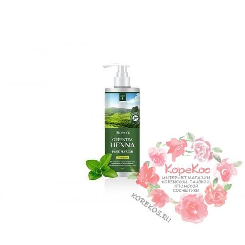 Шампунь для волос с зеленым чаем и хной DEOPROCE SHAMPOO - GREENTEA HENNA PURE REFRESH