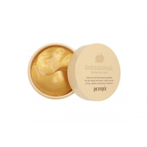 Патчи для глаз гидрогелевые с золотом и экстрактом улитки PETITFEE Gold & Snail Eye Patch