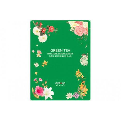 Маска для лица тканевая зеленый чай GREEN TEA OIL MOISTURE ESSENCE MASK