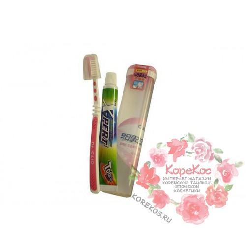 Набор зубная паста + щетка New Portable Doctor + Expert Toothpaste