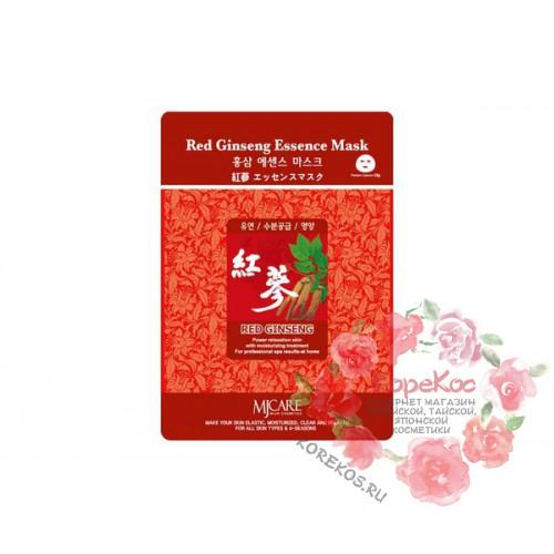 Маска тканевая красный женьшень Red Ginseng Essence Mask