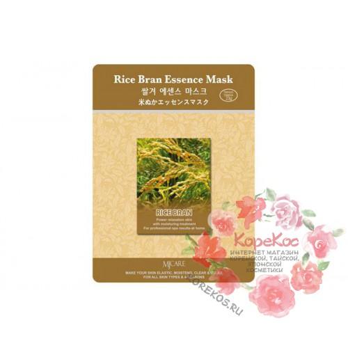 Маска тканевая рисовые отруби Rice Bran Essence Mask