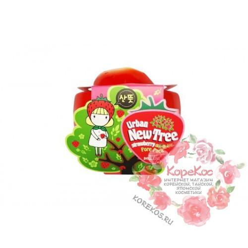Маска для лица от расширенных пор Urban Dollkiss New Tree Strawberry All-In-One Pore Pack