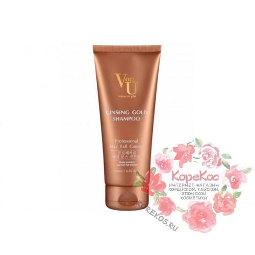 Шампунь против выпадения волос с экстрактом золотого женьшеня Ginseng Gold Shampoo