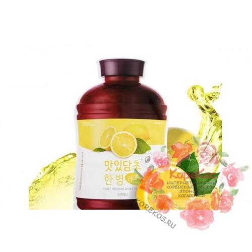 Маска для лица тканевая A'PIEU Fruit Vinegar Sheet Mask (Lemon)