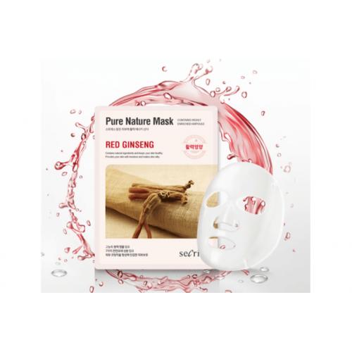 Маска для лица тканевая Secriss Pure Nature Mask Pack- Red ginseng