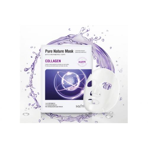 Маска для лица тканевая Secriss Pure Nature Mask Pack- Collagen