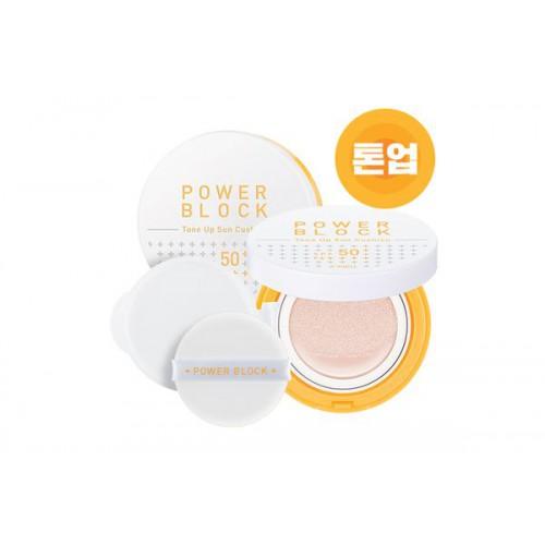 Кушон A'PIEU Power Block Tone Up Sun Cushion, SPF50/PA+++