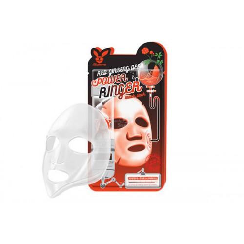 Маска для лица тканевая красный женьшень RED GINSENG DEEP POWER RINGER MASK PACK