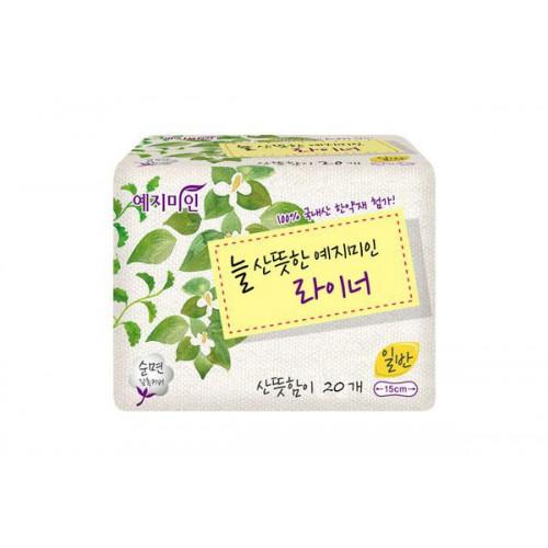 Прокладки гигиенические на каждый день Линия плюс Yejimiin Panty Liner Herb 20P (150 мм) Normal