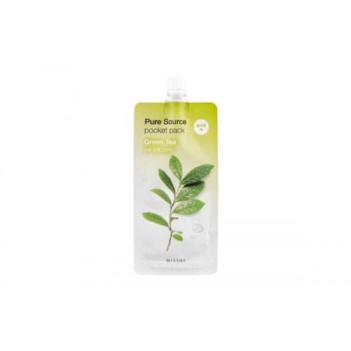 Смягчающая ночная маска с экстрактом зеленого чая Missha Pure Source Pocket Pack (Green Tea)