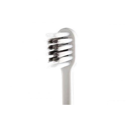 Двухрядная зубная щетка Компактная с древесным углем и наночастицами серебра Dr.NanoTo Compact Charcoal & Nano Silver