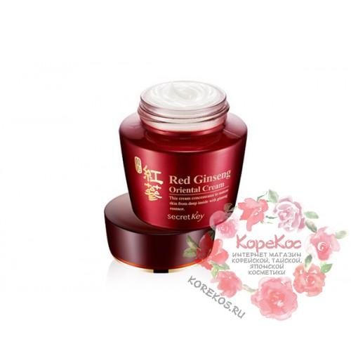 Крем для лица с экстрактом красного женьшеня Red Ginseng Oriental Cream