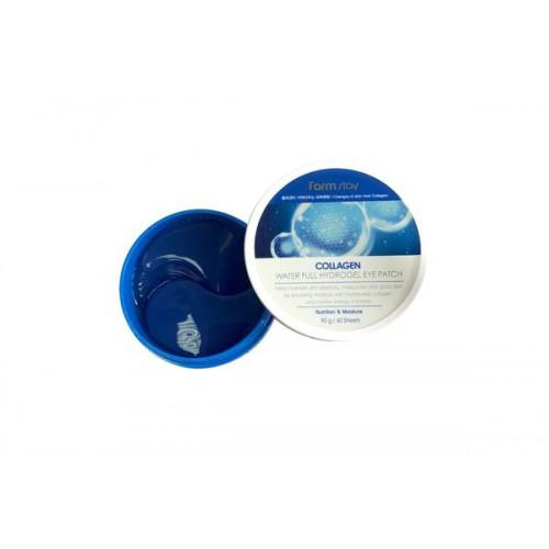 Гидрогелевые патчи c коллагеном для глаз FarmStay Collagen Water Full Hydrogel Eye Patch