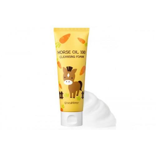 Пенка для умывания SEANTREE Horse Oil 100 Cleansing Foam