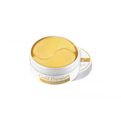 Патчи для глаз с золотом Gold Premium First Eye Patch