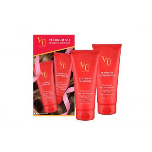 Набор шампунь и кондиционер для объема и роста волос с платиной Platinum Shampoo + Platinum Conditioner